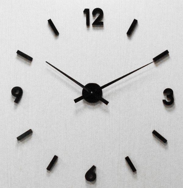 Levné nalepovací nástěnné ČERNÉ hodiny JVD HW53.4