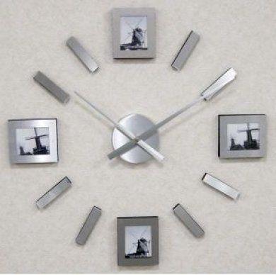 Luxusní moderní nalepovací Nástěnné hodiny JVD HW58.1