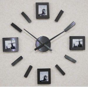 Luxusní moderní nalepovací nástěnné hodiny JVD HW58.2