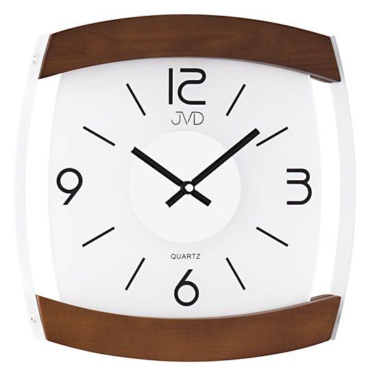 Skleněné nástěnné hodiny JVD quartz N11063.11