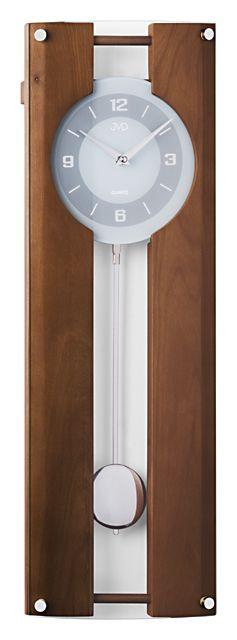 Dřevěné kyvadlové nástěnné hodiny JVD quartz N12010.11