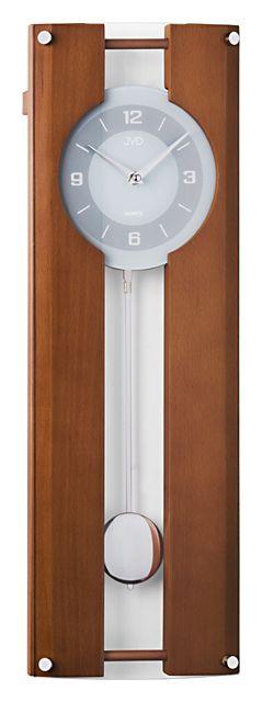 Dřevěné kyvadlové nástěnné hodiny JVD quartz N12010.41
