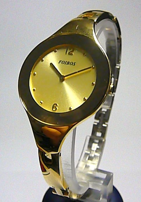 Luxusní designové zlaté vodotěsné moderní dámské hodinky zn. Foibos 8319.1 ( )