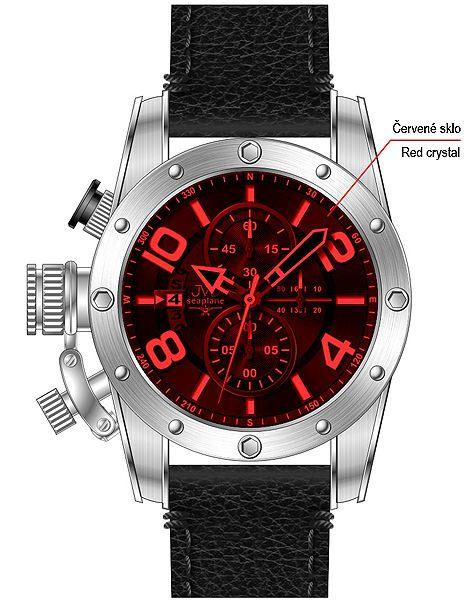 Pánské sportovní hodinky JVD seaplane JS23.2 do ponorky!!
