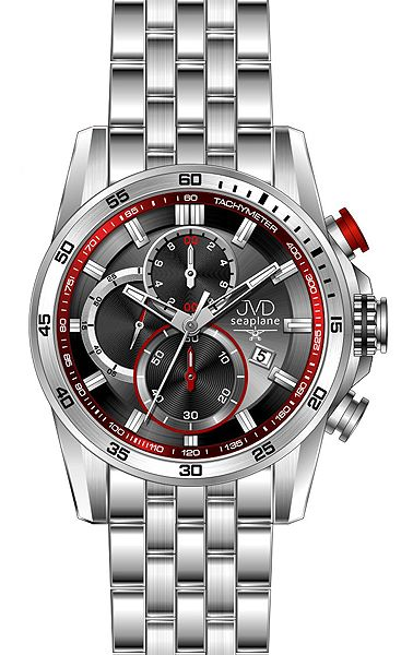 Pánské sportovní chronografy náramkové hodinky JVD seaplane JS22.1