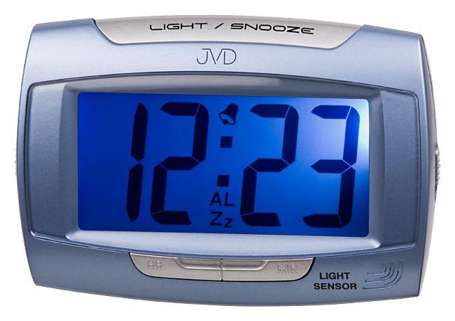 Svítící moderní modrý digitální budík JVD SB 91.5