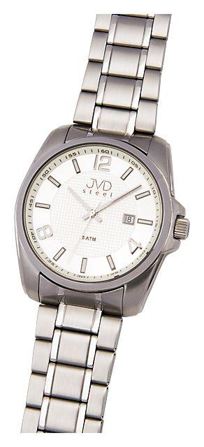 1224822c48a Ocelové nerezové náramkové hodinky JVD steel H05.2 s kalendářem - 5ATM