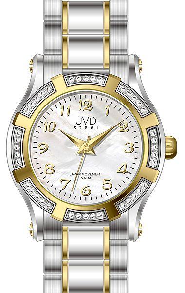 Dámské ocelové módní voděodolné hodinky JVD steel J4128.3 - 5ATM