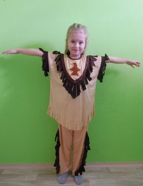 Dětský maškarní kostým pro kluky i holky - Indián/ka (Cena za půjčovné na 1-3 dny nebo víkend:)