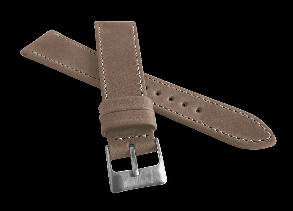 Zúžený béžový prošitý řemínek LAVVU SPORT z luxusní kůže Top Grain 22mm LSEUF22 (řemínek, pásek na hodinky)