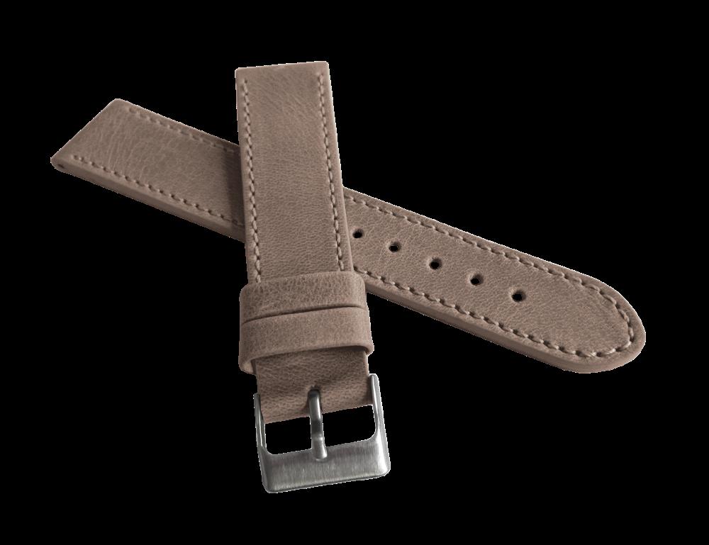 Béžový prošitý řemínek LAVVU SPORT z luxusní kůže Top Grain - 22mm LSAUF22 (řemínek, pásek na hodinky)