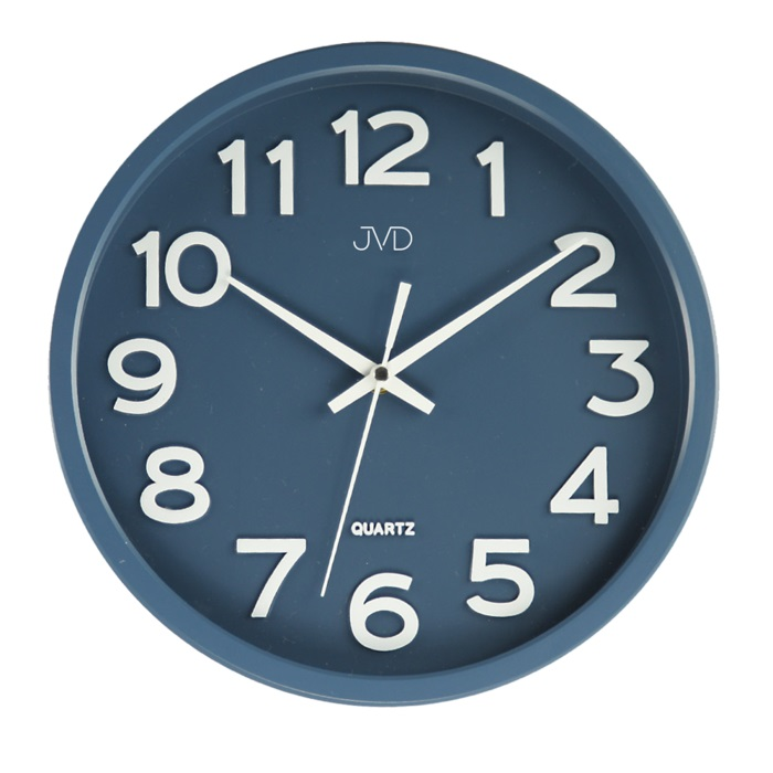 Plastové pastelové tiché netikající nástěnné dětské hodiny JVD HX2413.1 - IIjakost
