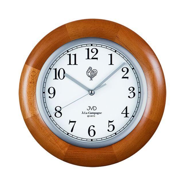 Dřevěné nástěnné hodiny JVD basic N26065.41