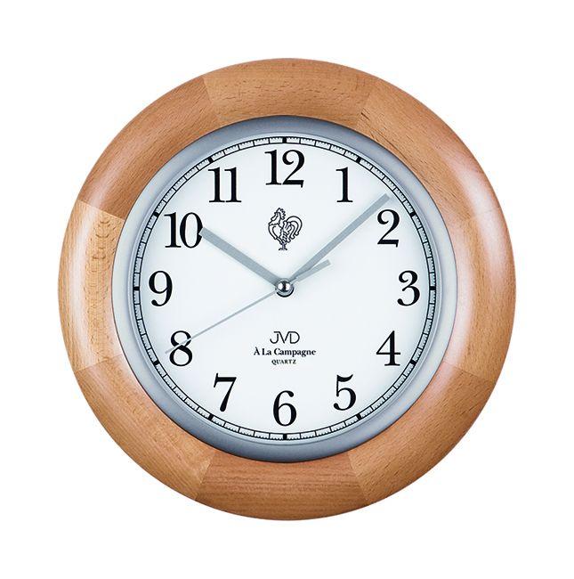 Dřevěné nástěnné hodiny JVD basic N26065.68