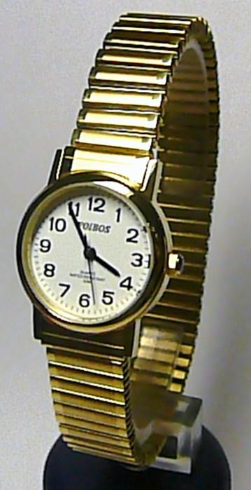 Dámské zlaté ocelové luxusní hodinky Foibos 7432LG s natahovacím páskem