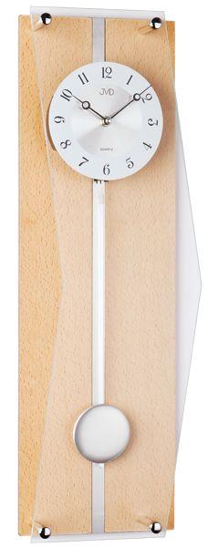 Luxusní světle dřevěné kyvadlové hodiny JVD quartz N12002.68