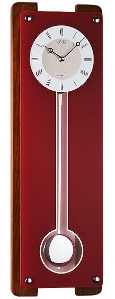 Luxusní dřevěné bordové hodiny JVD quartz N12032.11