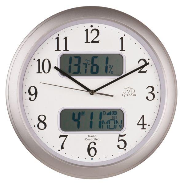 Rádiem řízené nástěnné hodiny JVD system RH98