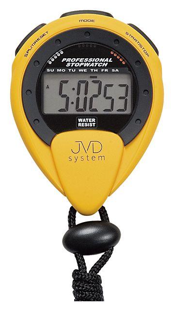 Žluté moderní profesionální stopky JVD coach ST25.2