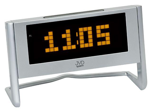 Digitální svítící budík JVD system SB 1252.2 s oranžovými číslicemi