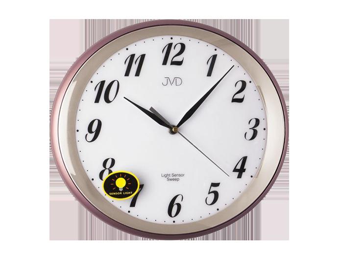 Cihlově červené nástěnné hodiny JVD HP663.10