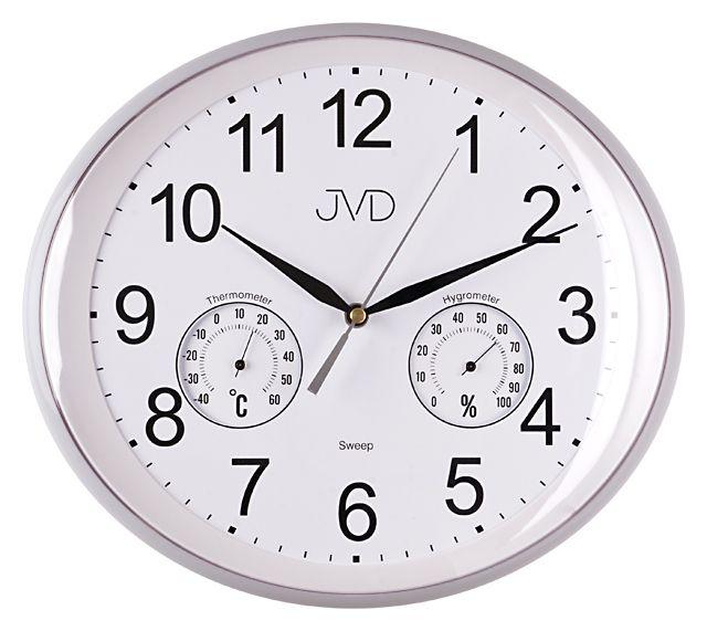 Nástěnné hodiny JVD HTP64.1 s vlhkoměrem a teploměrem