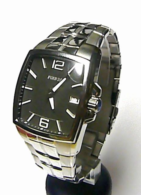 Mohutné ocelové hranaté pánské hodinky Foibos 1H88 ( )