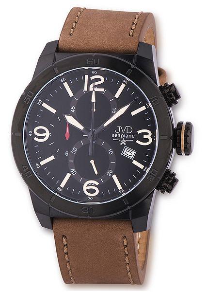 Odolné luxusní chronografy náramkové hodinky JVD seaplane JS24.1