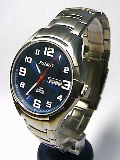 Titanové pánské vodotěsné hodinky Foibos 90173 se safírovým sklem 5ATM f78d37c7bc3