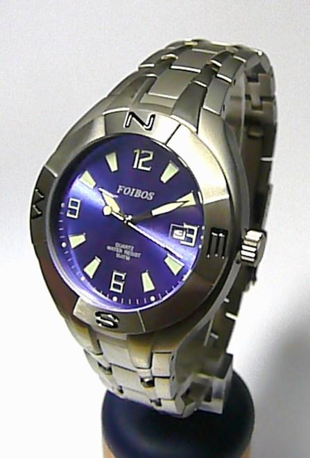 48780243406 Pánské titanové vodotěsné značkové hodinky Foibos 6397.1 10ATM ...