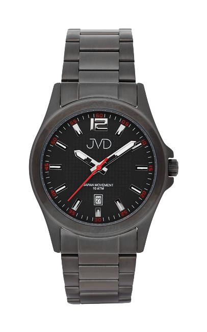 Černé moderní vodotěsné náramkové hodinky JVD steel J1041.5 - 10ATM ( )