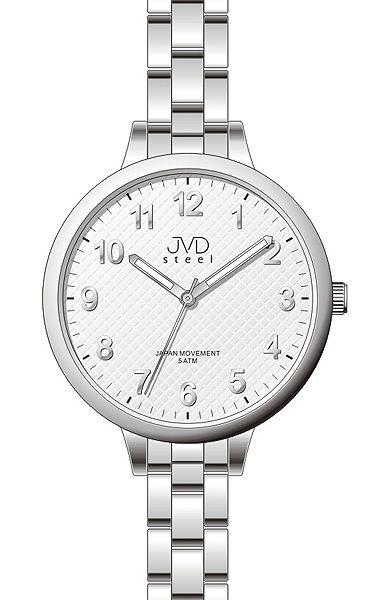 Čitelné dámské stříbrné hodinky JVD steel J4113.2 c0df0a3154