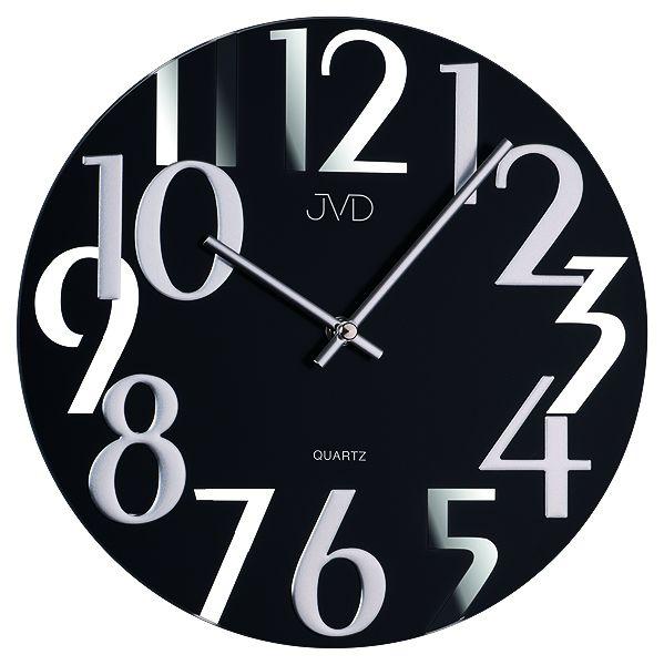Luxusní moderní zrcadlové nástěnné hodiny JVD design HT101.2