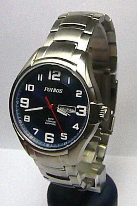 Titanové luxusní vodotěsné pánské odlehčené hodinky Foibos 90713 5ATM SAFÍR SKLOhodinky Foibos 90713 ( )