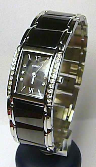 Luxusní dámské společenské keramické hodinky Foibos 1F23 - černá keramika 3ATM ( )