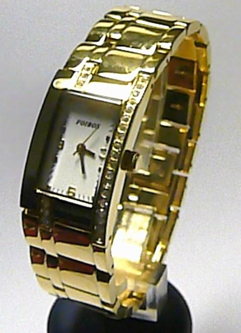 Dámské ocelové zlacené hodinky Foibos 3438G se zirkony 3ATM ( )