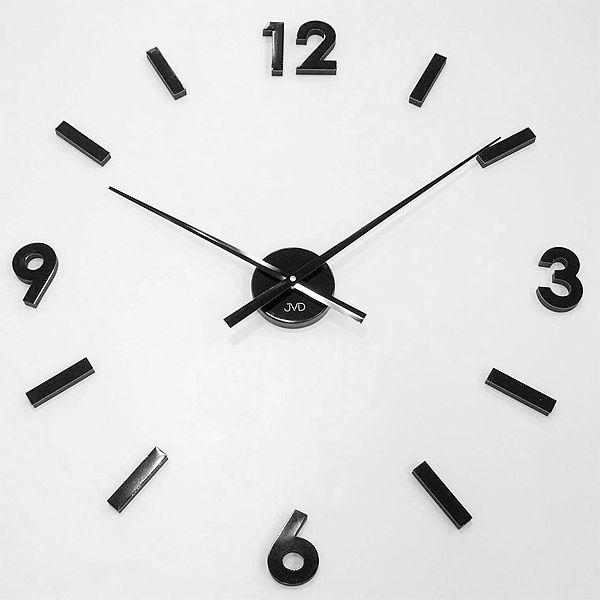 Černé nalepovací levné nástěnné hodiny JVD HW53.4 skladem ihned odesíláme
