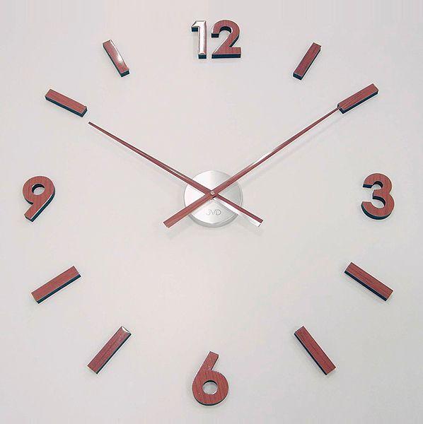 Nalepovací designové hodiny JVD HW53.6 imitace dřeva ve slevě!!