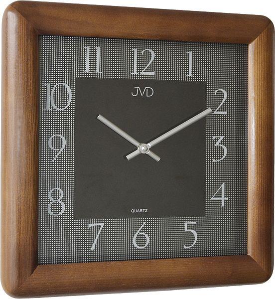 Luxusní designové tmavě hnědé nástěnné hodiny JVD N12081. 11