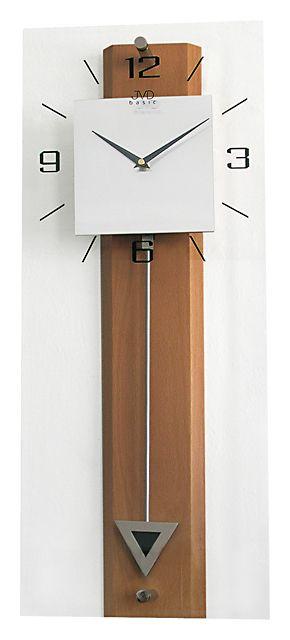 Luxusní moderní medové nástěnné kyvadlové hodiny JVD quartz N2233.41 ( )