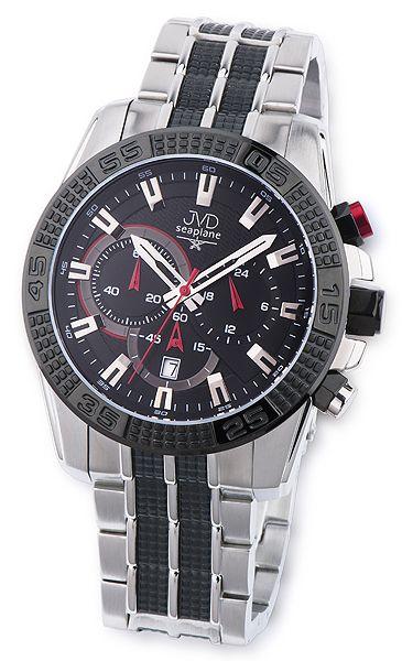 Odolné pánské vodotěsné náramkové hodinky JVD seaplane JS27.2 chronografy
