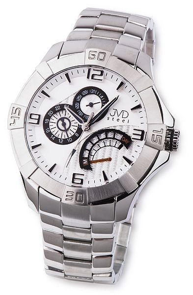 Odolné pánské nerezové náramkové hodinky JVD steel JA620.1 5ATM 163114ae7b5