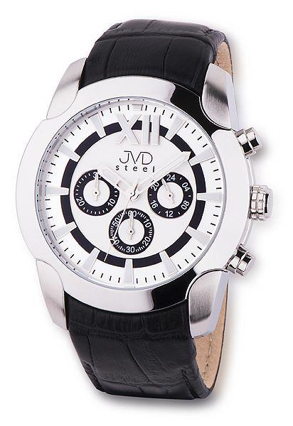 Pánské luxusní chronografy náramkové vodotěsné hodinky JVD steel V1176.1