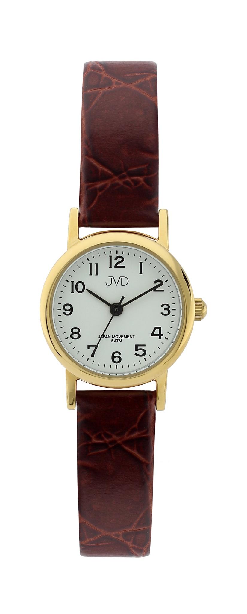 Dámské společenské náramkové hodinky JVD steel J4010.1 na koženém pásku Elegant