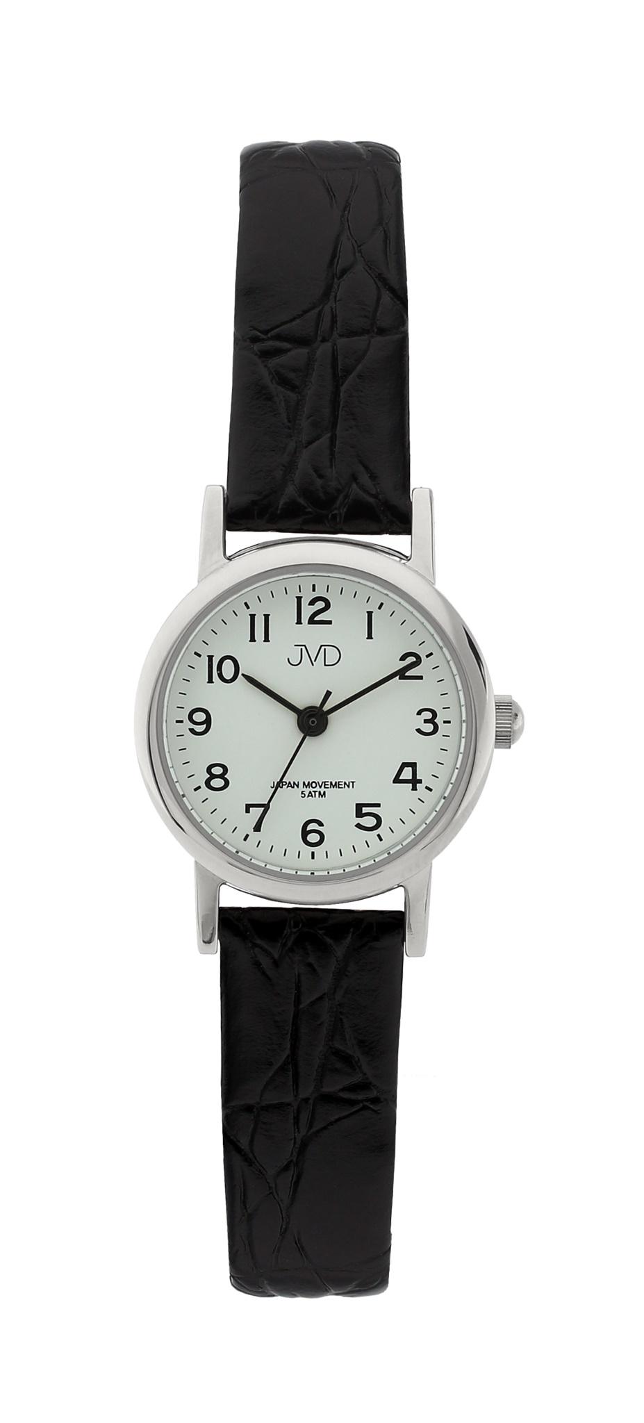 Dámské společenské náramkové hodinky JVD steel J4010.2 na koženém pásku ff83e880d4
