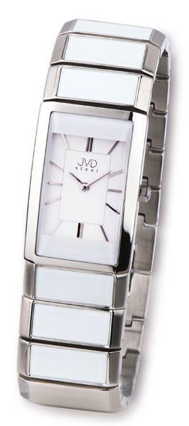 Luxusní dámské keramické náramkové hodinky JVD steel W22.1 (bílá keramika)