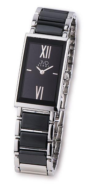 Černé dámské luxusní keramické náramkové hodinky JVD steel W23.1 černá keramikahodinky JVD steel W23.1
