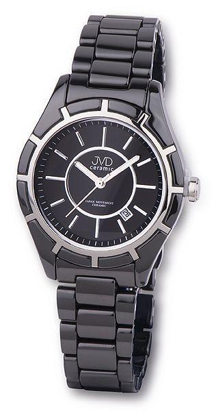 Luxusní černé společenské keramické náramkové hodinky JVD ceramic J6007.2 (POŠTOVNÉ ZDRAMA!!)