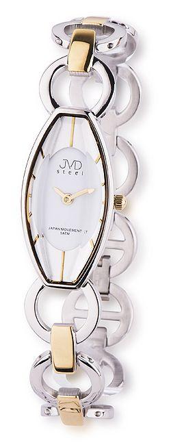 Bicolor luxusní dámské náramkové hodinky JVD steel J4094.2 - 5ATM