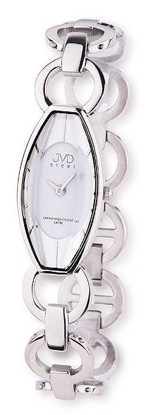Stříbrné dámské náramkové hodinky JVD steel J4094.1 - 5ATM